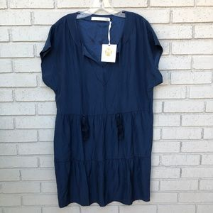 NWT Anthropologie Navy Dress - Women's Medium